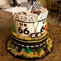 Route 66 Cake Route 66 cake for a nice lady who turned 66! TFL!