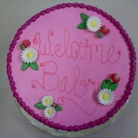 Lady Bug Baby Shower Cake inspired by the crib set for the new baby girl.