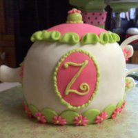 Teapot Birthday Cake   Thanks to whomever the inspiration for this teapot came from, I can't remember if I saw it on here or flickr.