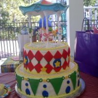 Carnival Themed 1St Birthday Cake