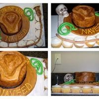 Indiana Jones Cake  WASC cake and BF frosting. Everything is edible accept the hat which is made from cardboard and styrofoam. Thank you for looking! I had a...