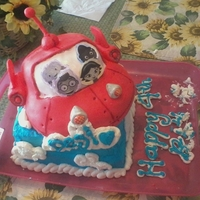 Little Einsteins Bday Cake  I have to admit I didn't know who Little Einsteins are... forgive me... my youngest is 11. And my edible ink printer wouldn't...