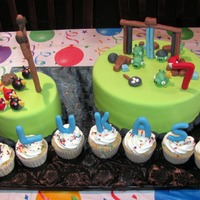 Angry Birds Angry Birds birthday cake I made for my nephew.