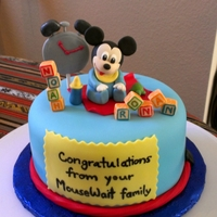 Baby Mickey   Baby Shower cake for 2 Disney loving girls who are both having a boy :)