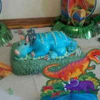 Dinosaur Cake Dinosaur covered with mmf