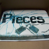 "Pieces Cake For Stephan Cochran We made this cake for singer Stephan Cochran last week for his new album called ""Pieces"" hand painted fondant covered , with..."