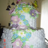 Cascade Of Flowers Pound cake, Wedding cake icing, royal icing flowers