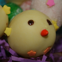 Easter Chick Cake Balls This was my first time making 'themed' cake balls...I think they turned out pretty cute. I also made easter eggs, but those didn...