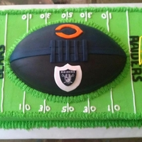 Raiders/bears fondant and bc