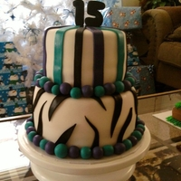 Zebra Print And Stripes all fondant