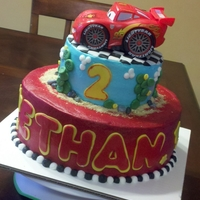 Cars Cake My second Cars cake. 10 & 6 inch cakes