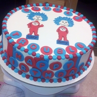 "Double Trouble Thing 12 And Thing 2 Cake for a friends dad and his twin brother. She wanted something that would make the party ""light and fun""."