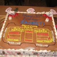 Casino Craps Birthday Cake This was a cake i made for a friend who had a casino themed and wanted to see if i could make a craps cake with playing cards, dice, and...