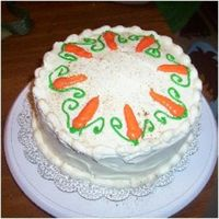 Carrot Cake with cream cheese icing. very yummy
