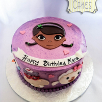Doc Mcstuffins Birthday Cake Here's a small Doc McStuffins smash cake that accompanied a dozen St. Patrick's day cupcakes.
