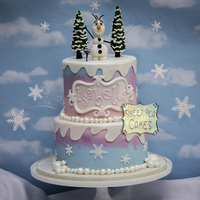 Olaf's Winter Wonderland One of my favorites this year! Tri color buttercream cake with fondant details. Olaf and trees are fondant as well. Can you spot the Hidden...