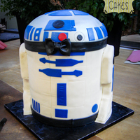 R2D2 Groom's Cake There's a first time for everything. The top could have been higher and rounder. But overall, I like this cake. Carved out of 10 inch...