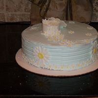 Bc Daisy The girl asked for whipped icing, no fondant (my nightmare, I can not smooth icing at all, I was hoping to cover my mess with fondant, oh...