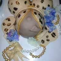 "Leopard Print Baby Bump Cakeused Ball Pan For The Breast And Stomach Used Remaining Cake In An 8 Cake Pan To Lift Up Stomach Not A Leopard print Baby bump cake...used ball pan for the breast and stomach, used remaining cake in an 8"" cake pan to lift up stomach. ....."