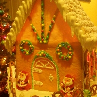 Our 2010 Gingerbread House
