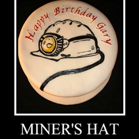 Miner's Hat hand painted miners hat