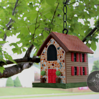 Hanging / Suspended Birdhouse Cake