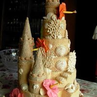 Sandcastle Round wedding cake.