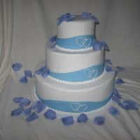 1St Wedding Cake My 1st wedding dummy cake.. buttercream icing w/ fondant ribbon