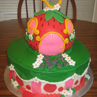 Strawberry Shortcake Strawberry Was Made With A Ball Pan And Covered In Fondant Strawberry shortcake. strawberry was made with a ball pan and covered in fondant