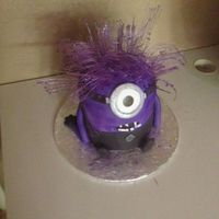 Purple Minion An excersise in patience-I was hoping to use cotton candy treated w/luster dust for the hair,but even on our driest days,it's too...