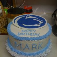 Penn State/nitanny Lion Birthday Cake   Cake I made for my brother-in-law's birthday.