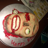 Zombies! This is a zombie cake a friend of mine wanted for her birthday. :) Had a TON of fun with this one. :) Thanks for looking!
