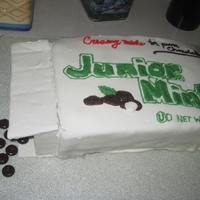 Junior Mints This was my sister's Graduation cake, as she happens to LOVE Junior Mints. Deluxe Devil's Food cake with Junior Mints as the...