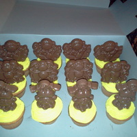 Monkey Cupcakes White cake with buttercream icing