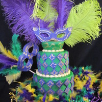 Mardi Gras Birthday This is what my 6 year old grandaughter wanted for her birthday today. She was so excited.