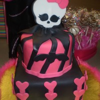 Monster High I made this cake for my niece. The design was inpired by her favorite Draculaura. Turned out really cute!