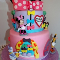 Minnie Bow Tique Birthday Cake Minnie Bow-Tique birthday cake.