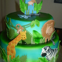 Safari Theme This cake design was inspired by the invitation. Very cute!