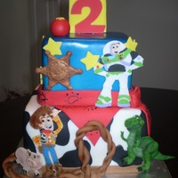 Toy Story This cake was lots of fun! I made all the characters out of fondant.