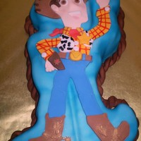 Woody Knowing that Woody's character is very thin I knew it would be difficult to make a 2D cake with lots of cake and make Woody look good...