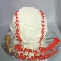 Batter Up!!! I made this for a friend's birthday. He was into baseball so that was my inspiration.