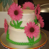Daisy Cake Cake for my MIL's retirement lunch. I tried to include all her favorites: WASC, BC, daisies and pink. Much to my relief, she was...