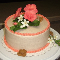 Hibiscus Cake Cake for the office--a nurse leaving and a nurse practitioner's b-day. In an effort to brighten our winter blues, I went w/ a more...