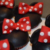 Mickey And Minnie Cupcakes Special cupcakes for a first birthday. Mouse ears make of fondant.
