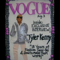 Vogue Magazine Cover The theme for the party was 'fashion faux-pas' so he ordered a cake to go with it! I did a 'cartoon version' of him on...