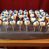 Donald Duck Cake Pops Base covered in Duct Tape to be Manly