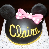 Minnie Mouse Smash Cake Made this for the daughter of friend. Claire's 1st b-day.