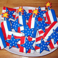 Happy 4Th Of July! Sugar cookies with Royal icing
