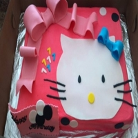 Hello Kitty   detail done with fondant
