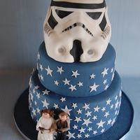 Storm Strooper Wedding Cake This Wedding Cake was a great challange for me but i think it works :)